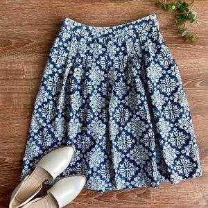 Christopher & Banks White Denim Skirt